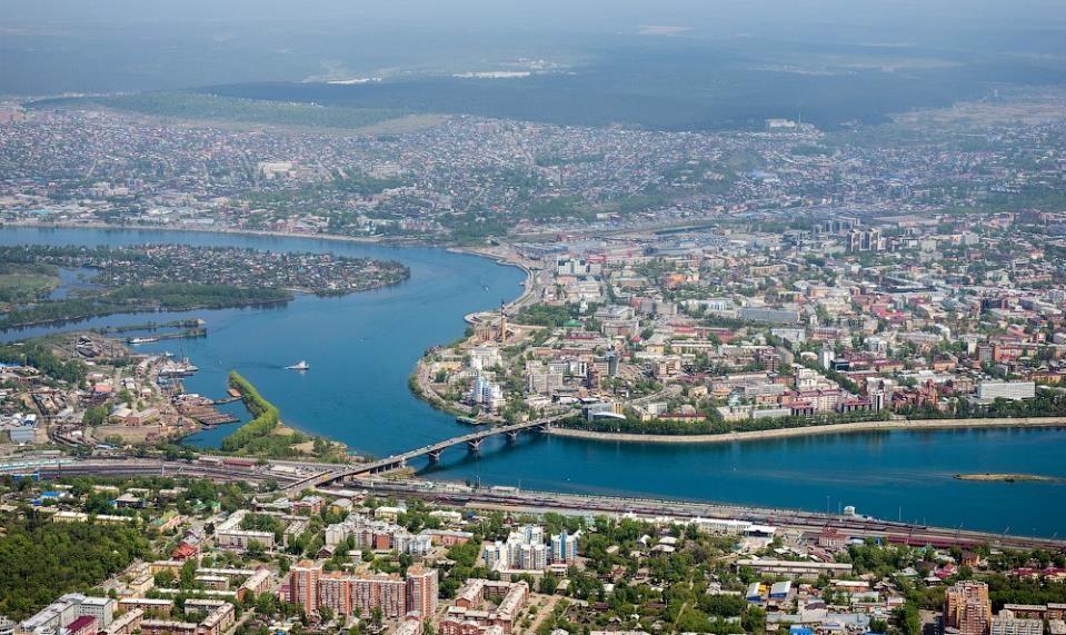 Irkutsk city view / Вид на Иркутск